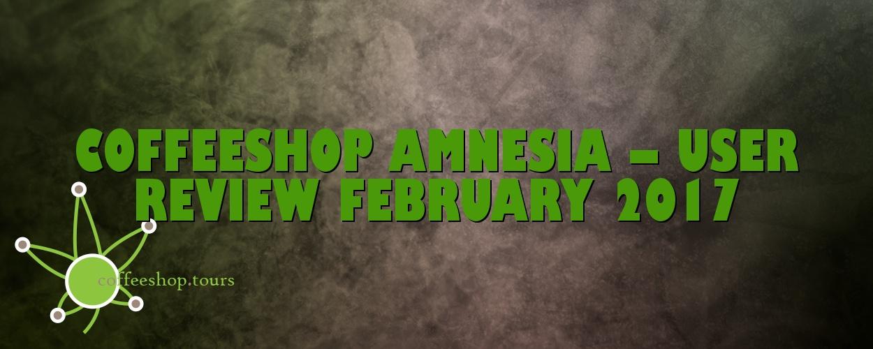 Coffeeshop Amnesia – User Review February 2017